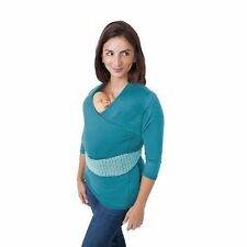 NuRoo Baby Bonding Pocket/feeding Top and Hands Carrier X-small/small Teal 3/4 Sleeve 08000