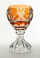 Wunderschöner seltener Bleikristall Überfang Weinrömer von Beyer