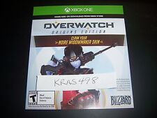 Overwatch Widowmaker Preorder Noire Legendary Skin DLC Card XBox One XB1 - RARE