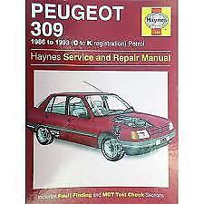 Peugeot 309 Petrol Haynes Owners Workshop Manual 1986 1987 H1266