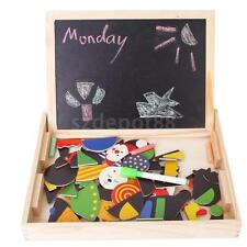 Wooden Educational TOY Blackboard Whiteboard Magnetic Picture Block Playset