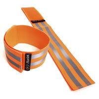 2 x Orange Reflective Hi-Vis Armbands Ankle Straps Adjustable Running Cycling