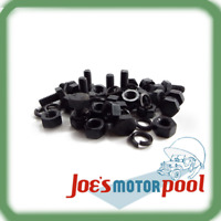 """Willys MB Body Handle Bolt Nut Washer Set of 16 EC Marked 5/16 x 5/8"""""""