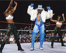 "WWE SIGNED PHOTO FLASH FUNK 8x10"" WCW WWF WRESTLING 2 COLD SCORPIO"