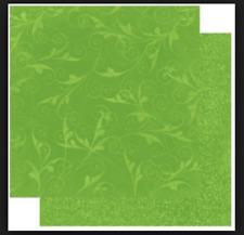BoBunny 12x12 papel scrapbooking Doble Dot, Wasabi florecer X 2 Hojas
