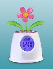 Solar Power Table Clock Eco-Power Talking Flower Alarm Clock