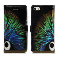 Apple iPod Touch 5 5th & Touch 6 6th Generation Leather Wallet Phone Case Cover Funky Hedgehog - Cosmic Bright Colour Color Spike