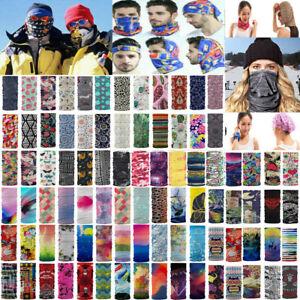 Unisex Biker Bandana Head Face Mask Neck Gaiter Snood Headwear Beanie Tube Scarf