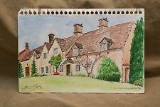 "Original Watercolor by Stuart Jones '98 LITTLE BHARINGTON England 5.5x9"" Village"