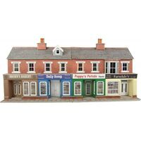 Low relief terraced shops brick - OO/HO Card kit – Metcalfe PO272 - Free Post