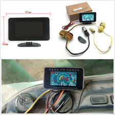 3 Function LCD Car SUV Oil Pressure+Voltmeter+Water Temperature Meter 57*97*14mm