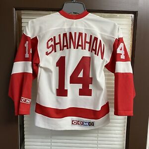 Vintage CCM Detroit Red Wings Brendan Shanahan Stitched Sewn NHL Hockey Jersey