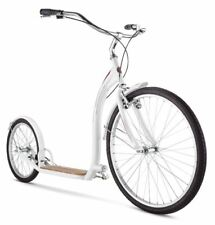 Adult Shuffle Scooter Schwinn With 26 Inch Wheels White Front And Rear Fenders