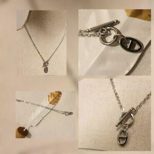 collier chaine ancre cercle tige argent acier inoxydable ref HERM3 de qualité