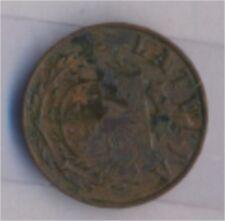 lettonie km-no. : 10 1938 très déjà bronze 1938 1 Santims Crest (9157962