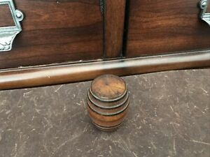 Antique Advertising Wood Barrel Needle Case CALVERT DISTILLING CO Baltimore MD