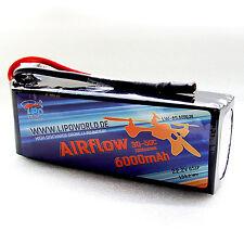 LW AIRflow Lipo Akku 6S 22,2V 6000mAh 30C-50C UAV Quadro DJI Drohne T-Rex 5000