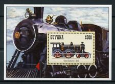 Guyana 1994 MNH Trains 1v S/S I Railways Locomotives Steam Engines Züge Stamps