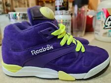 Reebok Pump Victory Court Purple/ White/ Yellow 'The Lakers' size 8 VERY RARE