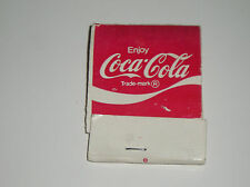 Vintage Coca-Cola Matchbook Cover Matches Coke Coca Cola Soda Real Thing