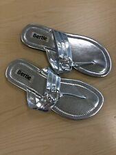 Bertie Silver Flip Flops Size 5