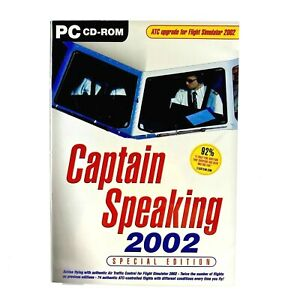 Captain Speaking 2002 Special Edition FS 2002 PC NEW/SEALED Flight Simulator ✈️