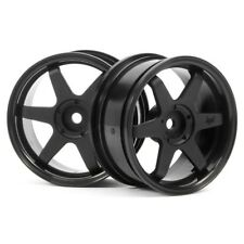 HPI 3841 Black Te37 Wheels 26mm Wide 3mm Offset