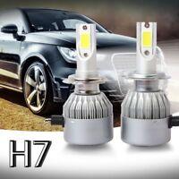Nuevo 2pzs C6 LED Kit de faros de coche COB H7 36W 7600LM bombillas de luz bl H4