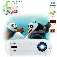 4K 1080P Android WIFI Projektor Bluetooth LED 3200Lumen 3D Heimkino Beamer 1/8GB