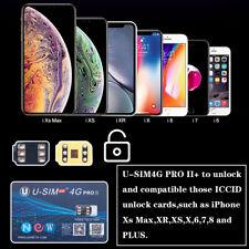 U-SIM4G PRO II Unlock Turbo Sim Card For iPhone XS MAX XR X 8 7 6S 6 Plus 5S 5
