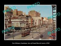 OLD 8x6 HISTORIC PHOTO OF NEW ORLEANS LOUISIANA THE CANAL St & STORES c1950