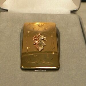 """Black Hills Gold Money Clip, 2"""" x """"1 with two small blades in Original Sales Cas"""