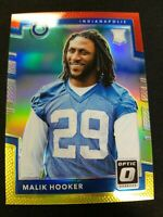 2017 OPTIC PRIZMS RED & YELLOW RC MALIK HOOKER INDIANAPOLIS COLTS PRIZM ROOKIE