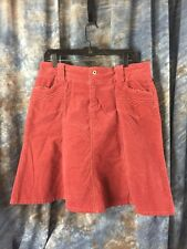 Rewind Corduroy Skirt Junior Size 13 Coral Stretch Skirt with Front Pockets
