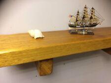 Solid Wood Iroko  Wall Shelf Handmade Offcuts