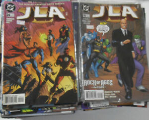 HUGE LOT OF 150 COMIC BOOKS justice league JLA manhunter  & more