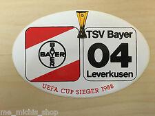 Bayer 04 Leverkusen Aufkleber - UEFA Cup Sieger 1988 - Logo Bundesliga Fussball
