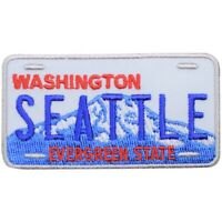"Seattle Patch - Washington License Plate, Evergreen State 2.75"" (Iron on)"