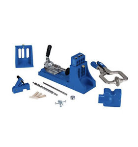 Kreg Jig K4 Master System (K4MS) Pocket Hole Drilling Kit W/ Clamp & Extras