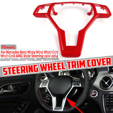 Replacement RED Steering Wheel Trim For Mercedes C E CLA CLS SLK CLASS