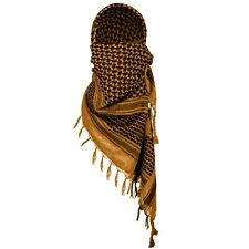 Shemagh 100% Cotton Arab Tactical Desert Towel Military Scarf Coyote Brown Cover