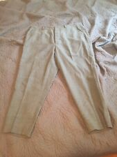 AMI Alexandre Mattiussi Grey Wool Cropped Trousers Pants M Small US 33 FR 44