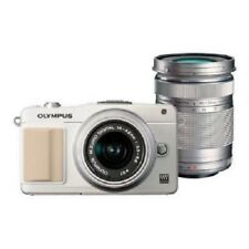 USED Olympus E-PM2 16MP with 14-42mm + 40-150mm White Excellent FREE SHIPPING