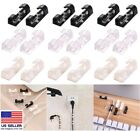 48 Pcs Cable Clips Management Holder Cord Wire Line Organizer Self-Adhesive US