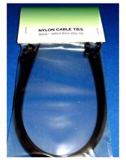 10 X FASCETTA IN NYLON NERA 250mm x 4.8mm Zip Tie/in ordine