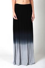 IRON PUPPY WOMEN'S PLUS Ombre Folded Waist Full Length Tie dye Maxi Long Skirt