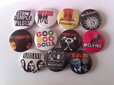 11 Grunge Pin Button badges 25mm Nirvana Tad Pearl Jam Melvins Soundgarden STP