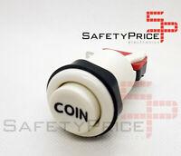 Pulsador Arcade concavo Blanco COIN Recreativa Bartop Americano 28mm 33mm