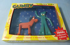 Gumby & Pokey Bendable & Poseable 2 Pc Figure Toys 1950's C/E ©2016 Prema Toy Co