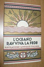 NAVIGAZIONE GENERALE ITALIANA L'OCEANO RAVVIVA LA FEDE VITA RELIGIOSA A BORDO